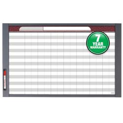 "Quartet® InView™ Custom Dry-Erase Whiteboard, 37 1/2"" x 23"", Aluminum Frame With Gray Graphite Finish"