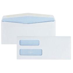 "Quality Park® Double-Window Security Envelopes, #10, 4 1/8"" x 9 1/2"", White, Box Of 500"