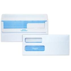 "Quality Park® Redi-Seal™ Double-Window Security Envelopes, #10, 4 1/8"" x 9 1/2"", White, Box Of 500"