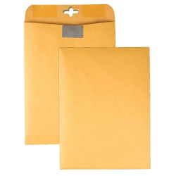"""Quality Park™ Postage Savings ClearClasp® Envelopes, 9"""" x 12"""", Brown Kraft, Pack Of 100"""
