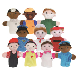 Get Ready Kids Multicultural Career Puppets, Pre-K To Grade 3, Set Of 10 Puppets
