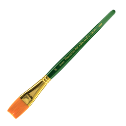 "Princeton Series 4350 Paint Brush, 3/4"", Stroke Bristle, Synthetic, Green"