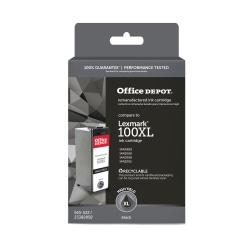 Office Depot® Brand OD100BXL (Lexmark 100XLA) Remanufactured High-Yield Black Ink Cartridge