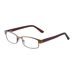 ICU Eyewear Women's Metal Reading Glasses, Bronze, 2.25x