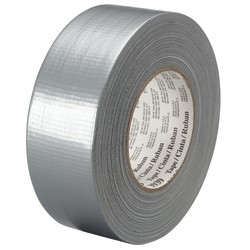 """3M™ 3939 Tartan™ Duct Tape, 3"""" Core, 1"""" x 180', Silver, Case Of 3"""