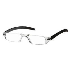 Dr. Dean Edell Slim Vision Reading Glasses, +1.25, Black