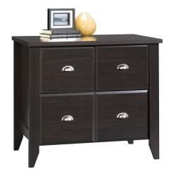 "Sauder® Shoal Creek 34-3/4""W Lateral 1-Drawer File Cabinet, Jamocha Wood"