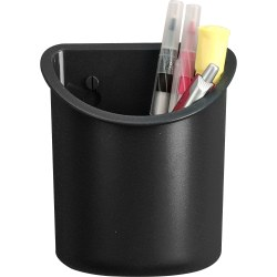 Lorell® Recycled Plastic Mounting Pencil Cup, Black