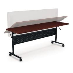 "Lorell® Shift Series Mobile Flipper Training Table, 60""W, Cherry"