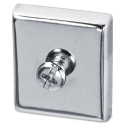 Lorell® Heavy-Duty Cubicle Magnets, Silver, Pack Of 2