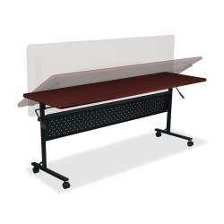 "Lorell™ Shift Series Mobile Flipper Training Table, 72""W, Mahogany"