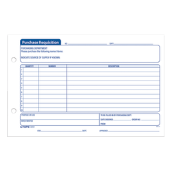 """Office Depot® Brand Purchase Requisition Forms, 5 1/2"""" x 8 1/2"""", Pack Of 100"""