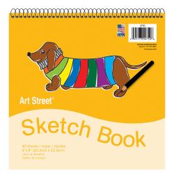 """Pacon® Art Street® Sketch Book, 9"""" x 9"""", 40 Sheets, White"""