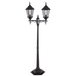 "Kenroy Home Villa 2-Head Portable Post Lantern, 75""H, Oil-Rubbed Bronze"