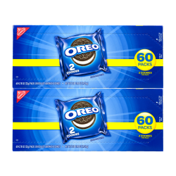 Oreo Chocolate Sandwich Cookies, 2 Cookies Per Pack, Box Of 120 Packs