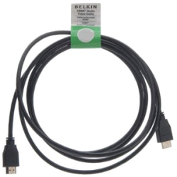 Belkin F8V3311b08 Audio/Video Cable - 8 ft HDMI A/V Cable - First End: 1 x Male - Second End: 1 x Male - Black