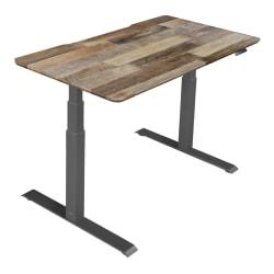 Deals on Vari Electric Standing Desk, 60-inch W, Reclaimed Wood