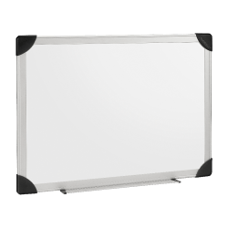 """Lorell® Non-Magnetic Dry-Erase Whiteboard, 72"""" x 48"""", Aluminum Frame With Silver Finish"""