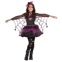 Amscan Miss Wicked Web Girls' Halloween Costume, Small
