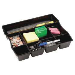 "Rubbermaid® Regeneration Deep Drawer Organizer, 2 1/2""H x 11 15/16""W x 14 15/16""D, Black"