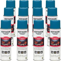 Industrial Choice Color Precision Line Marking Paint - 17 fl oz - 12 / Carton - Caution Blue