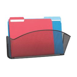 Safco® Onyx Mesh Wall Pocket, Legal Size, Black