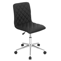 LumiSource Caviar Chair, Black/Chrome
