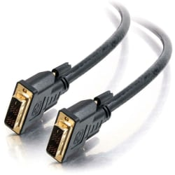 C2G 15ft Pro Series Single Link DVI-D Digital Video Cable M/M - Plenum CMP-Rated - 15 ft DVI Video Cable - First End: 1 x 24-pin DVI-D (Single-Link) Male Digital Video - Second End: 1 x 24-pin DVI-D (Single-Link) Male Digital Video - Shielding - Black