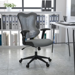 Flash Furniture Designer Mesh High-Back Swivel Chair, Gray/Black
