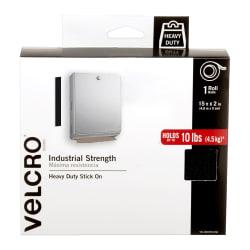 "VELCRO® Brand Industrial Strength Tape, 2"" x 15', Black"