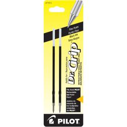 Pilot® Ballpoint Pen Refills, For Dr. Grip Retractable Pens, Fine Point, 0.7 mm, Black Ink, Pack Of 2