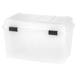 """IRIS® Storage Trunk, 138 Qt, 19 3/10""""H x 30 9/10""""W x 18 3/10""""D, Clear"""