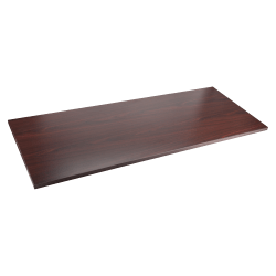 """Lorell® Quadro Sit-To-Stand Laminate Table Top, 60""""W x 24""""D, Mahogany"""