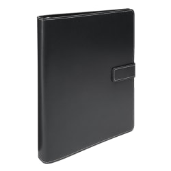 """Office Depot® Brand Classic-Style Magnetic-Strap 3-Ring Binder, 1 1/2"""" Round Rings, Assorted Colors"""