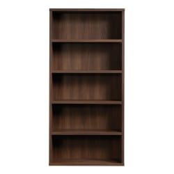 "Sauder® Optimum Bookcase, 73-1/2"", 5 Shelves, Spiced Mahogany"