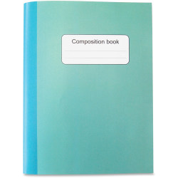 "Sparco College-ruled Composition Book - 80 Sheets - Stitched - College Ruled - 15 lb Basis Weight - 10"" x 7.5""10"" - Blue, Green Cover - Sturdy Cover - Recycled - 1Each"