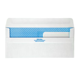 Quality Park® #9 Redi-Seal™ Double-Window Security Envelopes, Left Windows (Top/Bottom), Self-Seal, White, Box Of 500