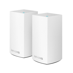 Linksys® Velop Intelligent Mesh™ 2-Port Gigabit Ethernet Wi-Fi Systems, WHW0102, Pack Of 2 Systems