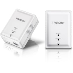 TRENDnet Powerline 500 AV Nano Adapter Kit; TPL-406E2K; Includes 2 x TPL-406E Adapters; Cross Compatible with Powerline 600/500/200;Windows 10; 8.1; 8; 7; Vista; XP; Ethernet Port; Plug & Play Install - 500 AV Compact Powerline Ethernet Adapter kit