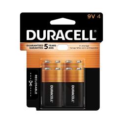 Duracell® Coppertop Alkaline 9-Volt Batteries, Pack Of 4