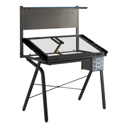 Monarch Specialties Adjustable Drafting Table, Rectangular, Black