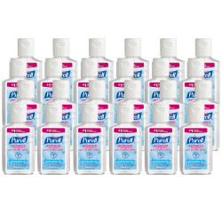 Purell® Advanced Refreshing Gel Hand Sanitizer, 2 Fl Oz, Clean Scent, Pack Of 24 Bottles