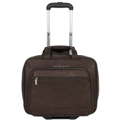 "Kenneth Cole Reaction Rolling Leather Portfolio, 13 1/2"" x 16 1/2"" x 8 1/2"", Brown"