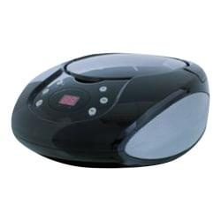 GPX BC112B Radio/CD Player BoomBox - 1 x Disc Integrated - Black LED - CD-DA - 8 Hour Run Time