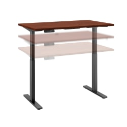 "Bush Business Furniture Move 60 Series 48""W x 30""D Height Adjustable Standing Desk, Hansen Cherry/Black Base, Standard Delivery"