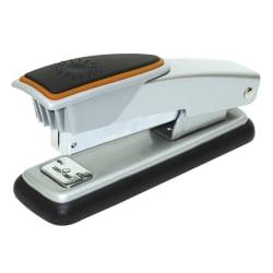 Office Depot® Brand Compact Metal Desktop Stapler, 25 Sheets Capacity, Silver/Orange