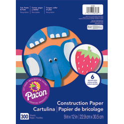 "Art Street® Construction Paper, 9"" x 12"", Assorted Colors, Pack Of 300 Sheets"