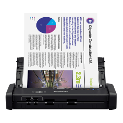 Epson® WorkForce® ES-200 Portable Duplex Document Scanner With ADF