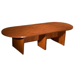 """Boss Office Products 120""""W Wood Race Track Conference Table, Cherry"""