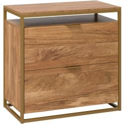 "Sauder® International Lux 31""W Lateral 2-Drawer File Cabinet, Sindoori Mango"
